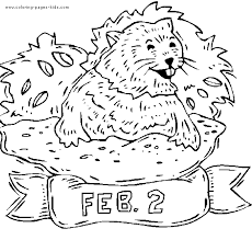 groundhog color coloring pages kids holiday