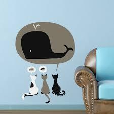aliexpress com buy funny cat dream eating cake mouse shark wall