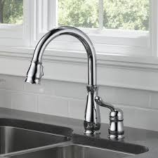kitchen faucets touch technology delta leland pull touch single handle kitchen faucet with