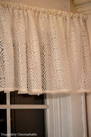 Making A Window Valance Easy Rod Pocket Lace Valance Exquisitely Unremarkable