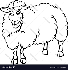 farm animal coloring book farm sheep cartoon for coloring book royalty free vector