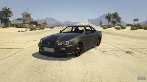 nissan gtr gta v nissan skyline gtr r34 for gta 5