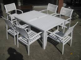 White Patio Furniture Sets Chic Idea White Patio Furniture With Blue Cushions Dining Set