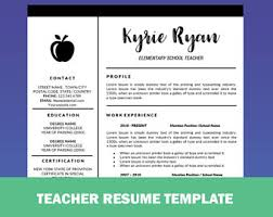 teaching resume templates resume etsy