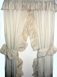 Burlap Ruffled Curtains Ruffled Curtains Sweet Strawberry Embroidered Kitchen Curtain