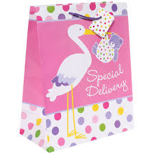 baby stork large gift bag