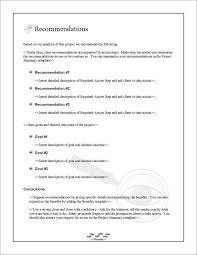 one page summary template 7 project summary templates free word