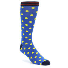 blue yellow polka dot xl men u0027s dress socks argoz