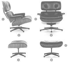 vitra lounge chair u0026 ottoman white version by charles u0026 ray