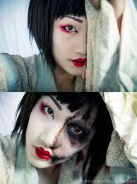 Jigsaw Halloween Makeup Zombie Geisha By Haych Deviantart Com On Deviantart Zombies