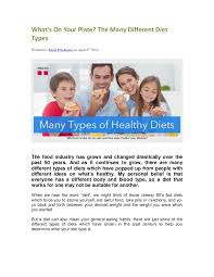 what u0027s on your plate the many different types of diets