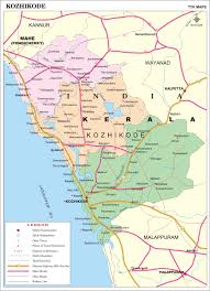 Google Map India by Kozhikode District Map Kerala District Map With Important Places