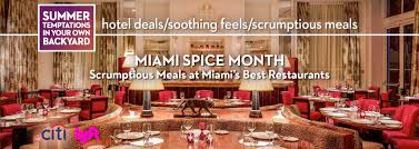 special summer offers for miami hotels restaurants and spa