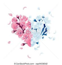 with cherry blossom design minimalistic with eps