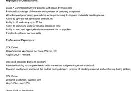 Cdl Resume Sample by Truck Driver Resume For Skills Reentrycorps