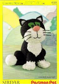 jess cat toy knitting pattern postman pat sirdar 4118