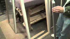 how to replace glass in a casement window sash youtube