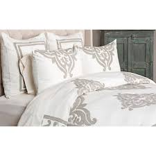 Ivory Duvet Cover King Patrina Ivory Hand Embroidered Cotton Duvet 9g939 Lamps Plus