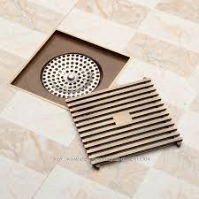 Bathroom Shower Drains 12 X 12cm Square Bathroom Shower Drain Floor Drainer Trap Waste