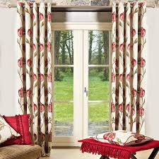 Chocolate Brown And Red Curtains Cream And Red Curtains Eyelet Curtains Nrtradiant Com