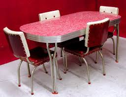 Chair And Table Design Retro Metal Kitchen Table Making Vintage With
