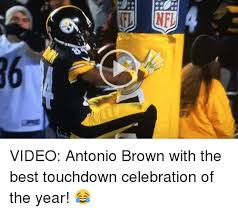 Antonio Brown Meme - 부부 l video antonio brown with the best touchdown celebration of