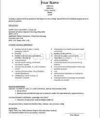 new graduate nursing resume template nursing resume template