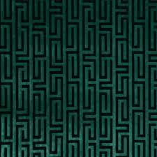 Greek Key Pattern Curtains Teal Velvet Fabric Greek Key Velvet Upholstery Fabric