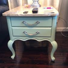 after painted with martha stewart chalk paint color antique sky