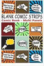 amazon com comic book blank comic strips make your own comics