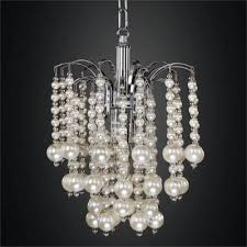 and pearl chandelier faux pearl beaded chandelier shop glow lighting