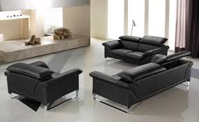 Modern Contemporary Leather Sofas Elite Contemporary Black Leather Sofa Set Anaheim California V Elite