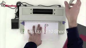 dfg office ecoil manual punch and power coil binder demo youtube