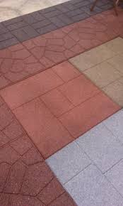 recycled rubber flooring tiles add long lasting beauty to an