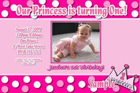 Princess Birthday Invitation Cards 1st Birthday Invitation Card Samples Iidaemilia Com