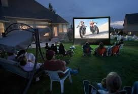 Backyard Movie Night Projector Inflatable Movie Screen Houston Outdoor Movie Screen Rentals