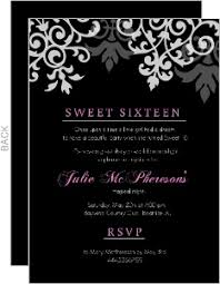 Pink And Black Sweet 16 Decorations Sweet 16 Birthday Invitations Marialonghi Com
