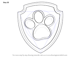learn how to draw ryder badge from paw patrol paw patrol step by