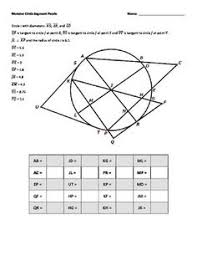 free tangent lines to a circle properties foldable with graphic