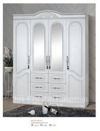 placard chambre 4 portes chambre bois armoire placard armoires avec miroir et