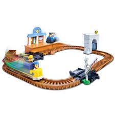 Make Wood Toy Train Track by Paw Patrol Adventure Bay Railway Track Set Walmart Com