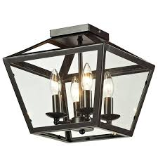 Flush Ceiling Light Fixtures Trapezoid Glass Flush Mount Ceiling Lantern Shades Of Light