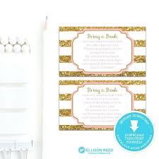 bring a book instead of a card wording lovely baby shower invitation book instead of card and gold and