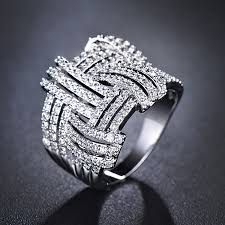 unique fashion rings images Weave ring cubic zirconia ring cocktail ring unique fashion ring jpg