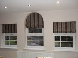 Curtain Designs For Arches Roman Blinds And Stiff Pelmet To Keep The Shape Of The Arched