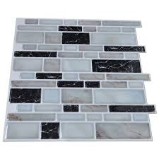kitchen backsplash tile stickers peel n stick kitchen backsplash tiles stone brick pattern wall
