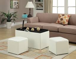 Coffee Table Storage Ottoman With Tray by Amazon Com Convenience Concepts Designs4comfort Sheridan Faux
