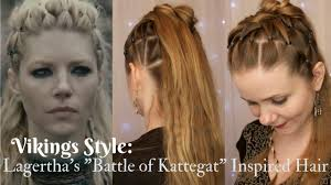 lagertha hair styles viking style lagertha s kattegat inspired hair youtube