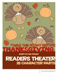 twas the before thanksgiving readers theater readers