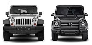 mercedes that looks like a jeep auto site compares jeep wrangler vs mercedes g wagon here s